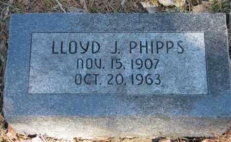 PHIPPS, LLOYD J. - Burt County, Nebraska | LLOYD J. PHIPPS - Nebraska Gravestone Photos
