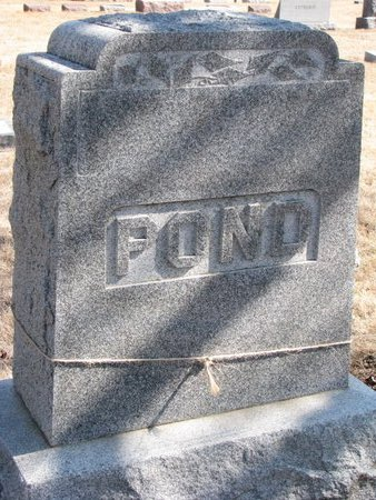 POND, *FAMILY MONUMENT - Burt County, Nebraska | *FAMILY MONUMENT POND - Nebraska Gravestone Photos
