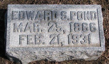 POND, EDWARD S. - Burt County, Nebraska   EDWARD S. POND - Nebraska Gravestone Photos