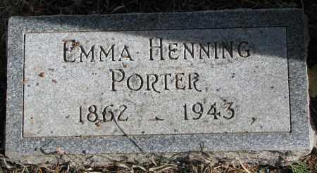 HENNIG PORTER, EMMA - Burt County, Nebraska   EMMA HENNIG PORTER - Nebraska Gravestone Photos