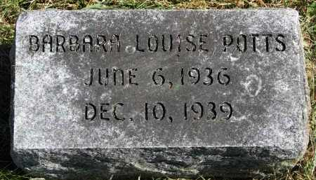 POTTS, BARBARA LOUISE - Burt County, Nebraska   BARBARA LOUISE POTTS - Nebraska Gravestone Photos