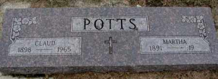 POTTS, CLAUD - Burt County, Nebraska | CLAUD POTTS - Nebraska Gravestone Photos