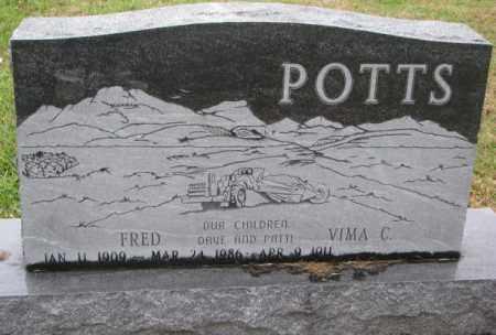 POTTS, FRED - Burt County, Nebraska   FRED POTTS - Nebraska Gravestone Photos