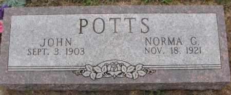 POTTS, NORMA G. - Burt County, Nebraska   NORMA G. POTTS - Nebraska Gravestone Photos