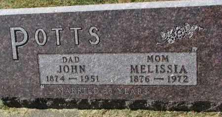 POTTS, MELISSA - Burt County, Nebraska   MELISSA POTTS - Nebraska Gravestone Photos