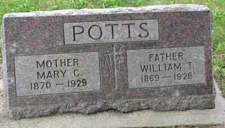 POTTS, WILLIAM T. - Burt County, Nebraska   WILLIAM T. POTTS - Nebraska Gravestone Photos
