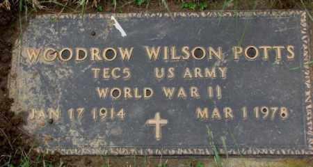 POTTS, WOODROW WILSON (WW II) - Burt County, Nebraska | WOODROW WILSON (WW II) POTTS - Nebraska Gravestone Photos