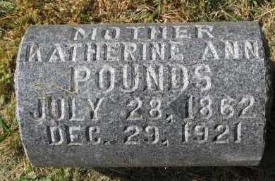 POUNDS, KATHERINE ANN - Burt County, Nebraska | KATHERINE ANN POUNDS - Nebraska Gravestone Photos