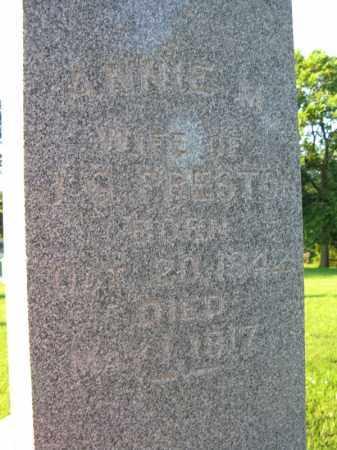 PRESTON, ANNIE M - Burt County, Nebraska | ANNIE M PRESTON - Nebraska Gravestone Photos