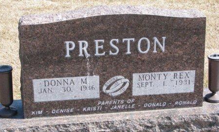 PRESTON, MONTY REX - Burt County, Nebraska | MONTY REX PRESTON - Nebraska Gravestone Photos