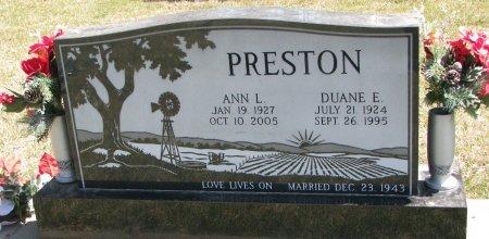 PRESTON, ANN L. - Burt County, Nebraska | ANN L. PRESTON - Nebraska Gravestone Photos