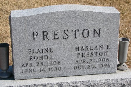 PRESTON, ELAINE - Burt County, Nebraska | ELAINE PRESTON - Nebraska Gravestone Photos