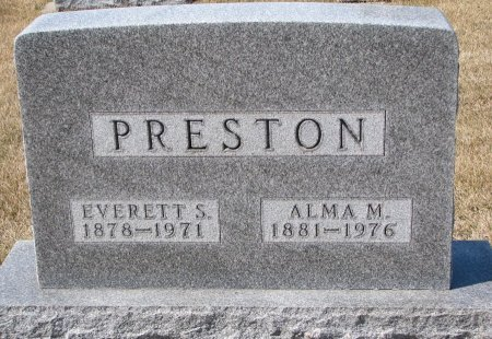 PRESTON, ALMA MARIE - Burt County, Nebraska | ALMA MARIE PRESTON - Nebraska Gravestone Photos