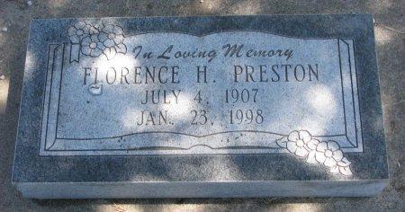 PRESTON, FLORENCE HELEN - Burt County, Nebraska | FLORENCE HELEN PRESTON - Nebraska Gravestone Photos