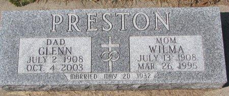 PRESTON, GLENN - Burt County, Nebraska | GLENN PRESTON - Nebraska Gravestone Photos