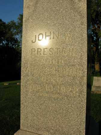 PRESTON, JOHN W. - Burt County, Nebraska | JOHN W. PRESTON - Nebraska Gravestone Photos