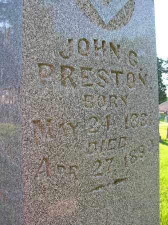 PRESTON, JOHN G. - Burt County, Nebraska   JOHN G. PRESTON - Nebraska Gravestone Photos