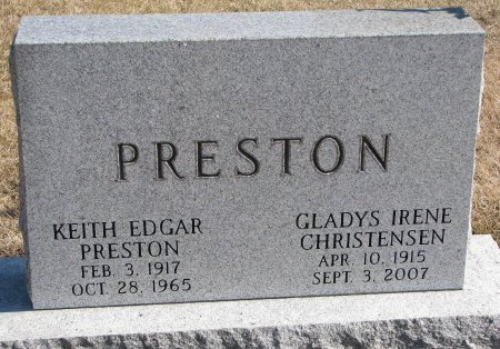 PRESTON, KEITH EDGAR - Burt County, Nebraska | KEITH EDGAR PRESTON - Nebraska Gravestone Photos