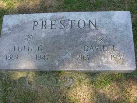 PRESTON, LULU C. - Burt County, Nebraska | LULU C. PRESTON - Nebraska Gravestone Photos
