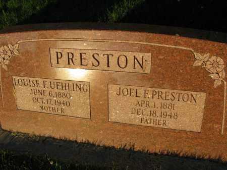 PRESTON, LOUISE F. - Burt County, Nebraska | LOUISE F. PRESTON - Nebraska Gravestone Photos