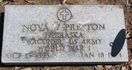 PRESTON, NOVA V. - Burt County, Nebraska   NOVA V. PRESTON - Nebraska Gravestone Photos