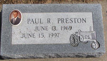 PRESTON, PAUL R. - Burt County, Nebraska | PAUL R. PRESTON - Nebraska Gravestone Photos