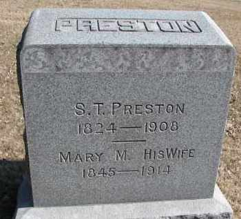 PRESTON, S.T. - Burt County, Nebraska | S.T. PRESTON - Nebraska Gravestone Photos