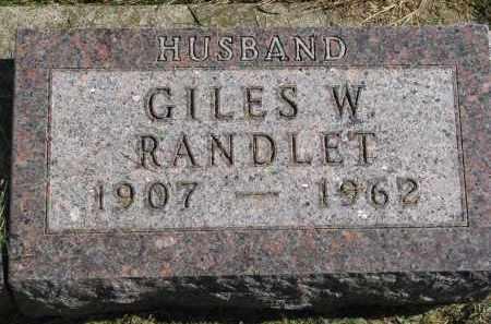 RANDLET, GILES W. - Burt County, Nebraska | GILES W. RANDLET - Nebraska Gravestone Photos