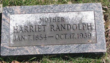 RANDOLPH, HARRIET - Burt County, Nebraska | HARRIET RANDOLPH - Nebraska Gravestone Photos