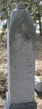 BREWER REDDING, SARAH FRANCES - Burt County, Nebraska | SARAH FRANCES BREWER REDDING - Nebraska Gravestone Photos