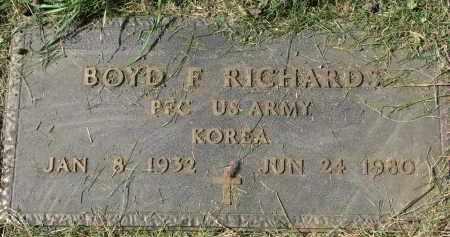 RICHARDS, BOYD F. - Burt County, Nebraska | BOYD F. RICHARDS - Nebraska Gravestone Photos