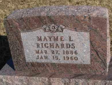 RICHARDS, MAYME L. - Burt County, Nebraska | MAYME L. RICHARDS - Nebraska Gravestone Photos