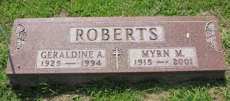 ROBERTS, MYRN M. - Burt County, Nebraska | MYRN M. ROBERTS - Nebraska Gravestone Photos