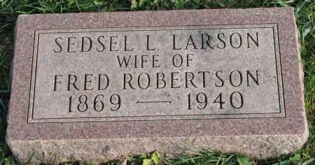 LARSON ROBERTSON, SEDSEL L. - Burt County, Nebraska   SEDSEL L. LARSON ROBERTSON - Nebraska Gravestone Photos