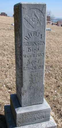 ROBINSON, ORRIN - Burt County, Nebraska   ORRIN ROBINSON - Nebraska Gravestone Photos