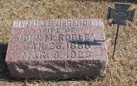 HERENDEEN ROBLEY, BERTHA B. - Burt County, Nebraska | BERTHA B. HERENDEEN ROBLEY - Nebraska Gravestone Photos