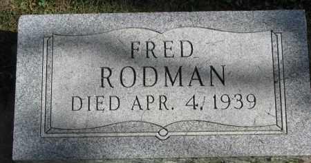RODMAN, FRED - Burt County, Nebraska | FRED RODMAN - Nebraska Gravestone Photos