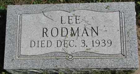 RODMAN, LEE - Burt County, Nebraska   LEE RODMAN - Nebraska Gravestone Photos