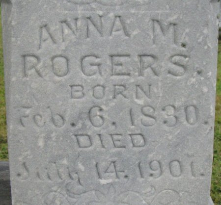 ROGERS, ANNA MATHILDA (CLOSE UP) - Burt County, Nebraska | ANNA MATHILDA (CLOSE UP) ROGERS - Nebraska Gravestone Photos