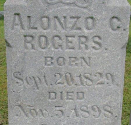 ROGERS, ALONZO CHILDS (CLOSE UP) - Burt County, Nebraska | ALONZO CHILDS (CLOSE UP) ROGERS - Nebraska Gravestone Photos