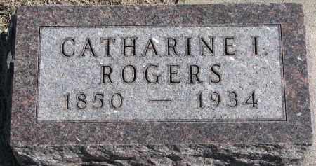 ROGERS, CATHARINE I. - Burt County, Nebraska   CATHARINE I. ROGERS - Nebraska Gravestone Photos