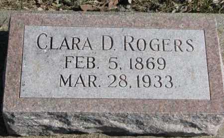 ROGERS, CLARA D. - Burt County, Nebraska | CLARA D. ROGERS - Nebraska Gravestone Photos