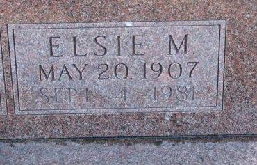 ROGERS, ELSIE M. (CLOSE UP) - Burt County, Nebraska | ELSIE M. (CLOSE UP) ROGERS - Nebraska Gravestone Photos