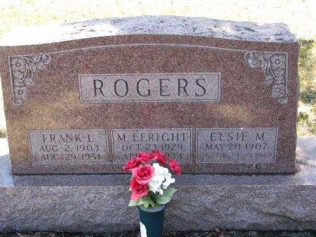 ROGERS, M. LERIGHT - Burt County, Nebraska | M. LERIGHT ROGERS - Nebraska Gravestone Photos