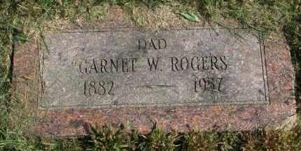 ROGERS, GARNET W. - Burt County, Nebraska | GARNET W. ROGERS - Nebraska Gravestone Photos