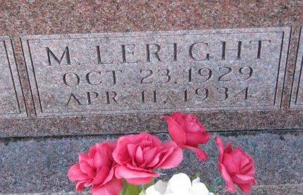 ROGERS, M. LERIGHT (CLOSE UP) - Burt County, Nebraska   M. LERIGHT (CLOSE UP) ROGERS - Nebraska Gravestone Photos