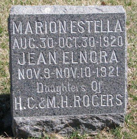 ROGERS, MARION ESTELLA - Burt County, Nebraska | MARION ESTELLA ROGERS - Nebraska Gravestone Photos