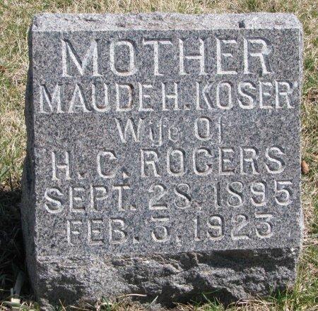 ROGERS, MAUDE H. - Burt County, Nebraska | MAUDE H. ROGERS - Nebraska Gravestone Photos