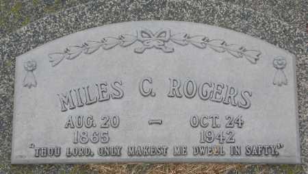 ROGERS, MILES C. - Burt County, Nebraska | MILES C. ROGERS - Nebraska Gravestone Photos