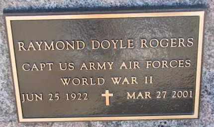 ROGERS, RAYMOND DOYLE (WW II) - Burt County, Nebraska   RAYMOND DOYLE (WW II) ROGERS - Nebraska Gravestone Photos